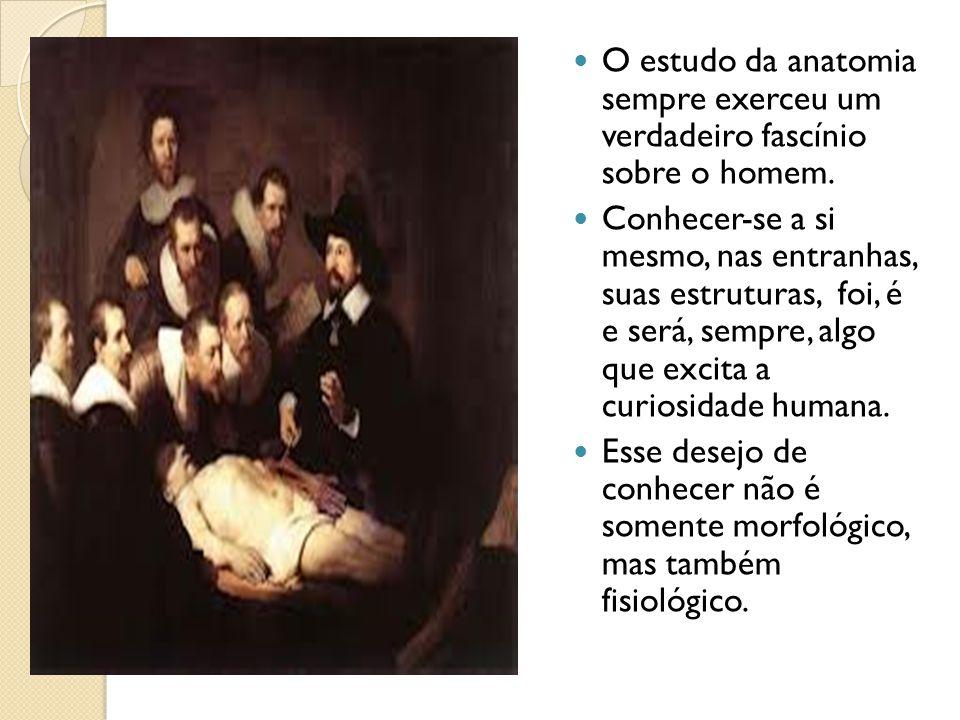 O estudo da anatomia sempre exerceu um verdadeiro fascínio sobre o homem. Conhecer-se a si mesmo, nas entranhas, suas estruturas, foi, é e será, sempr