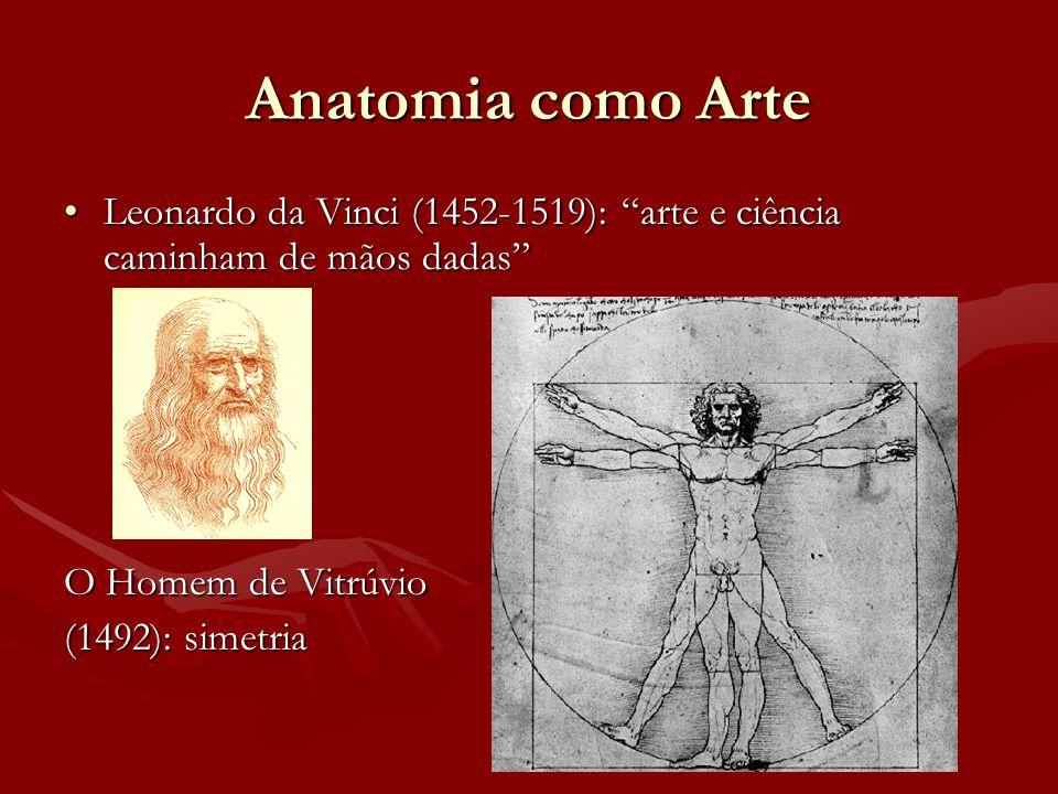 """Anatomia como Arte Leonardo da Vinci (1452-1519): """"arte e ciência caminham de mãos dadas""""Leonardo da Vinci (1452-1519): """"arte e ciência caminham de mã"""