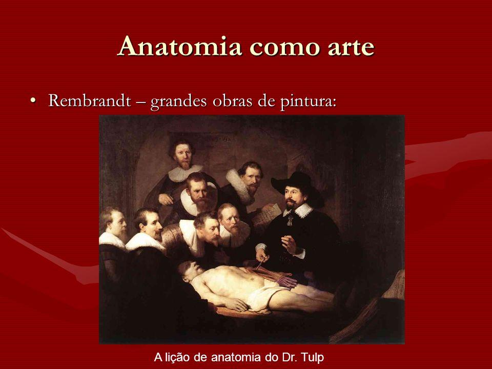 Anatomia como arte Rembrandt – grandes obras de pintura:Rembrandt – grandes obras de pintura: A lição de anatomia do Dr. Tulp