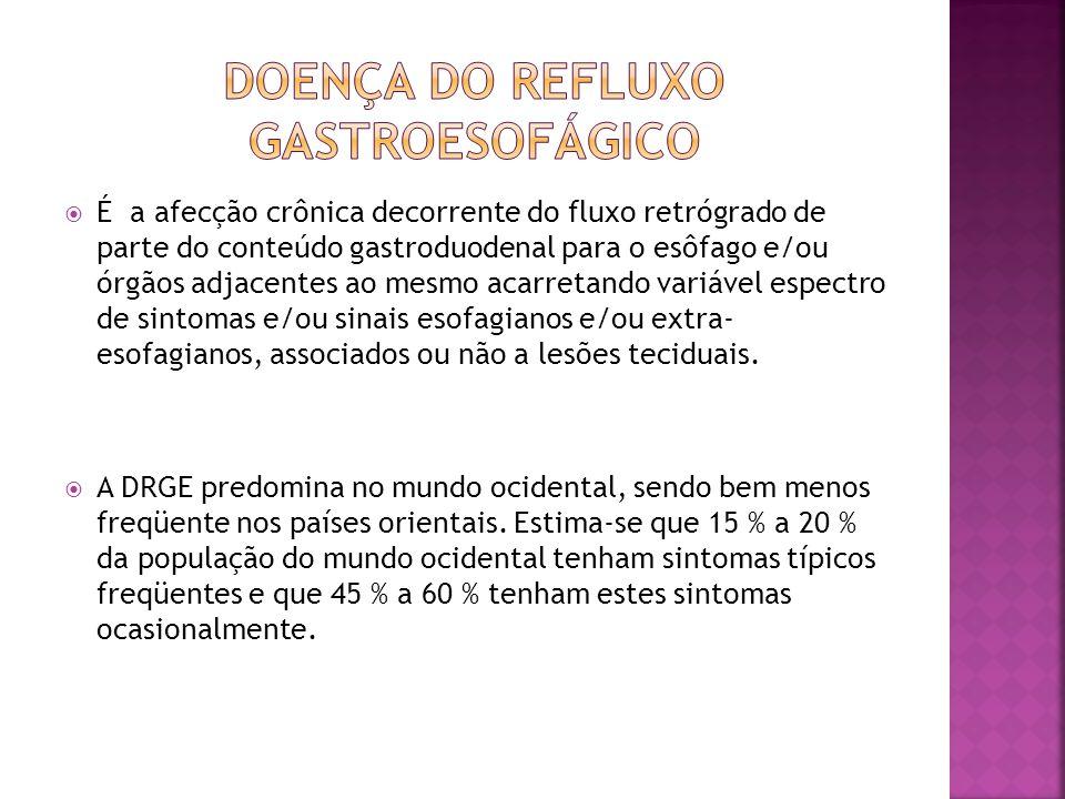  É a afecção crônica decorrente do fluxo retrógrado de parte do conteúdo gastroduodenal para o esôfago e/ou órgãos adjacentes ao mesmo acarretando va