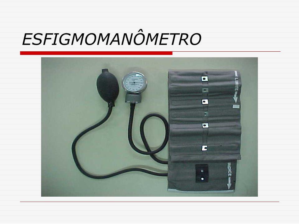 ESTETOSCÓPIO  - Existem vários modelos, porém os principais componentes são: Olivas auriculares: são pequenas peças cônicas que proporcionam uma perfeita adaptação ao meato auditivo, de modo a criar um sistema fechado entre o ouvido e o aparelho.