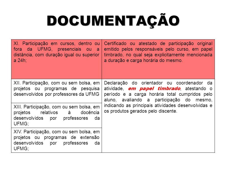 DOCUMENTAÇÃO XI.