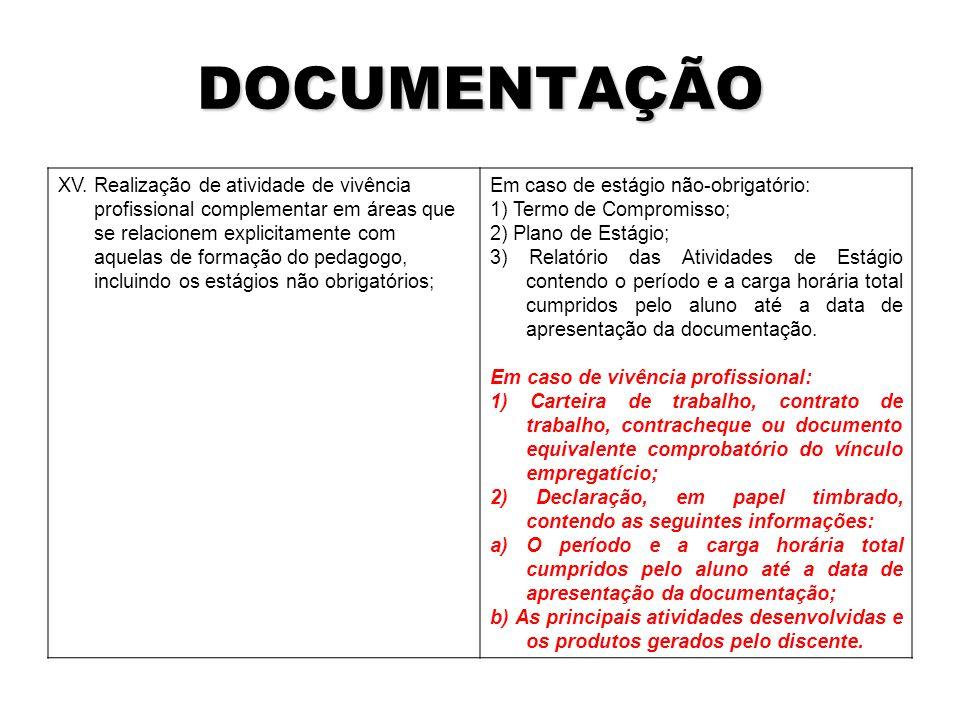 DOCUMENTAÇÃO XV.