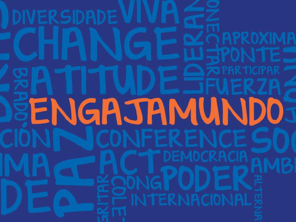 Engajamundo é uma organização não governamental, sem fins lucrativos e apartidária, preocupada em tornar a participação da juventude brasileira em negociações internacionais mais efetiva e inclusiva.