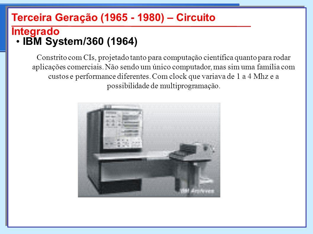 Constrito com CIs, projetado tanto para computação científica quanto para rodar aplicações comerciais.