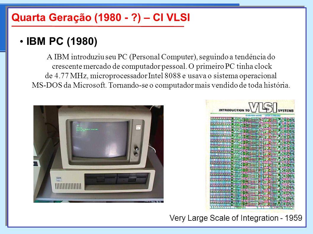 A IBM introduziu seu PC (Personal Computer), seguindo a tendência do crescente mercado de computador pessoal.