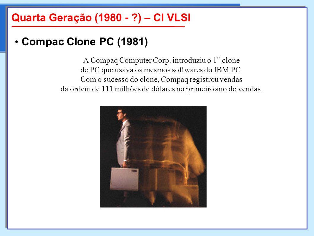 A Compaq Computer Corp.introduziu o 1° clone de PC que usava os mesmos softwares do IBM PC.
