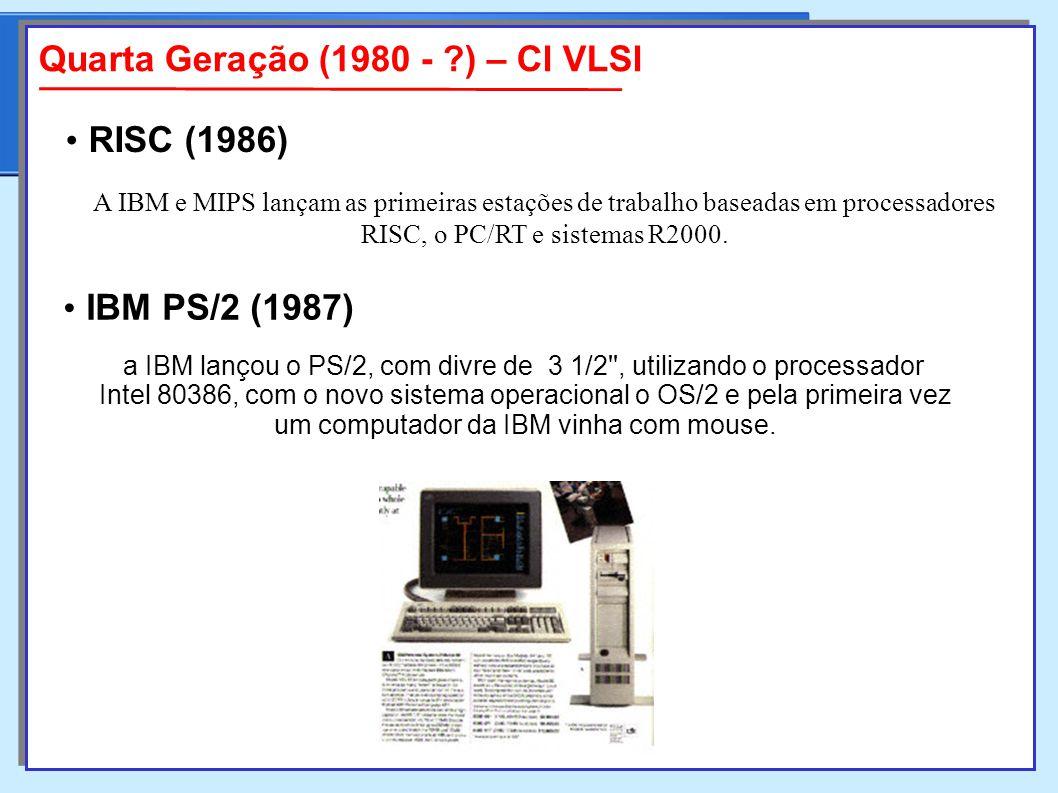 A IBM e MIPS lançam as primeiras estações de trabalho baseadas em processadores RISC, o PC/RT e sistemas R2000.