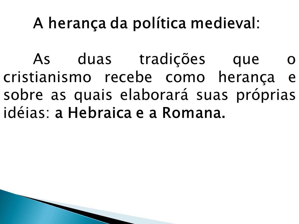 Os hebreus - conheceram várias modalidades de governo; - o poder está no caráter teocrático; O poder pleno e verdadeiro pertence exclusivamente a Deus e que este, por meio dos anjos e dos profetas, elege o dirigente ou os dirigentes.