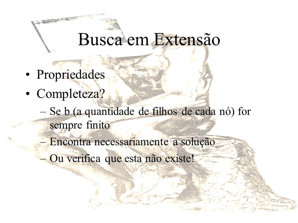 Busca em Extensão Propriedades Completeza.
