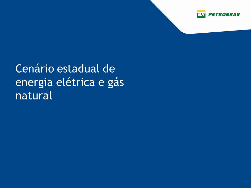 Cenário estadual de energia elétrica e gás natural