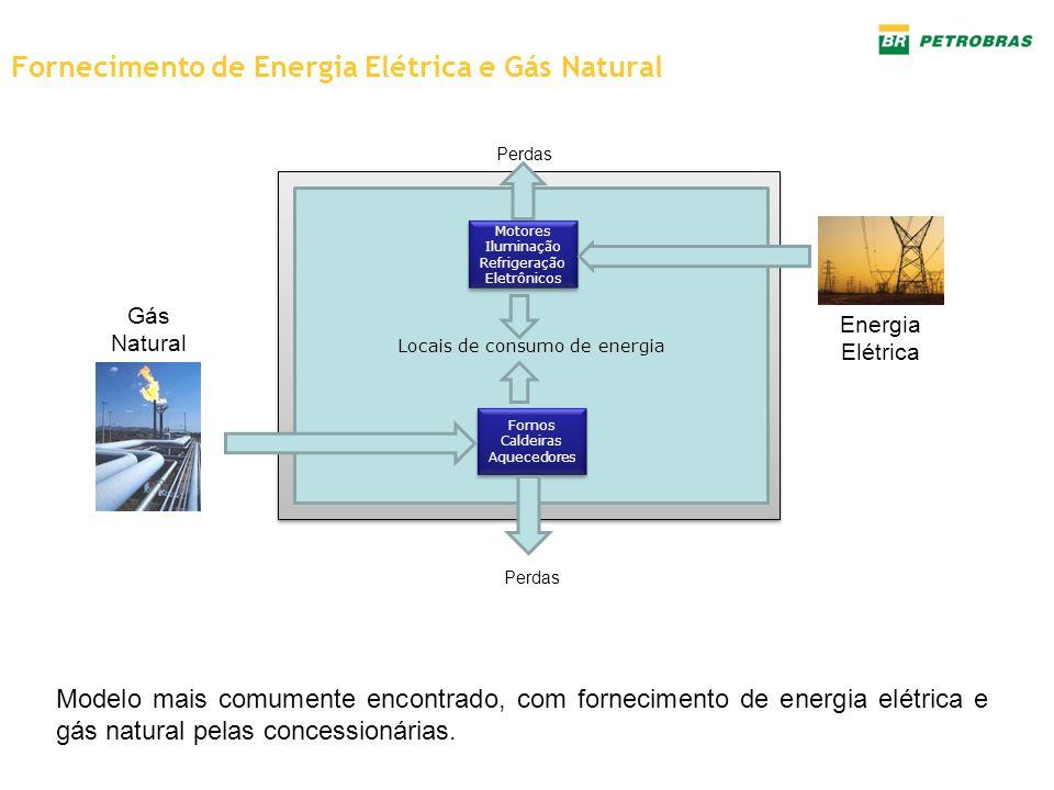 Fornecimento de Energia Elétrica e Gás Natural Modelo mais comumente encontrado, com fornecimento de energia elétrica e gás natural pelas concessionár