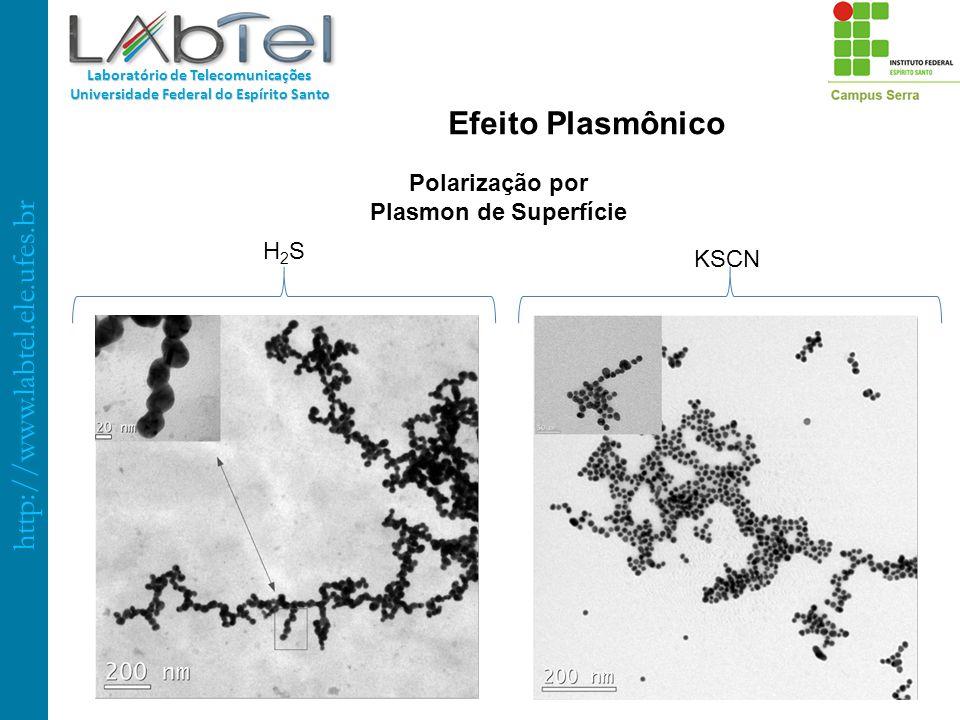 http://www.labtel.ele.ufes.br Laboratório de Telecomunicações Universidade Federal do Espírito Santo Polarização por Plasmon de Superfície H2SH2S KSCN