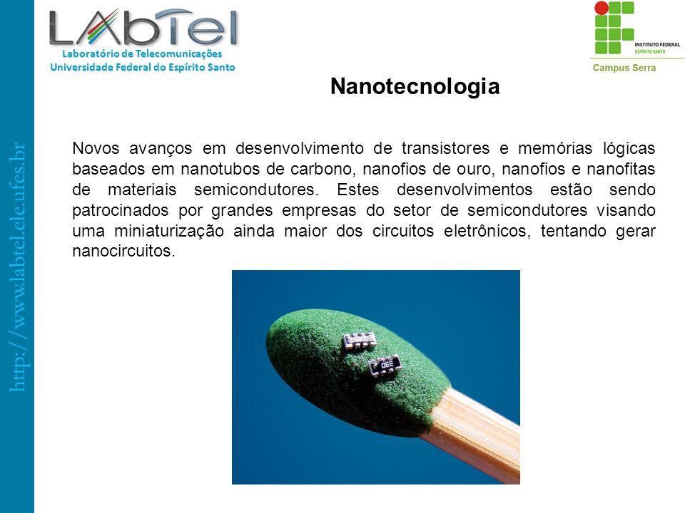 http://www.labtel.ele.ufes.br Laboratório de Telecomunicações Universidade Federal do Espírito Santo Nanotecnologia Novos avanços em desenvolvimento d