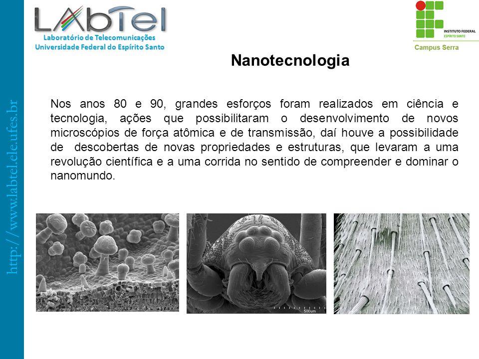 http://www.labtel.ele.ufes.br Laboratório de Telecomunicações Universidade Federal do Espírito Santo Nanotecnologia Nos anos 80 e 90, grandes esforços