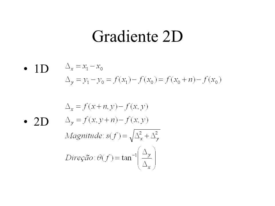 Gradiente 2D 1D 2D