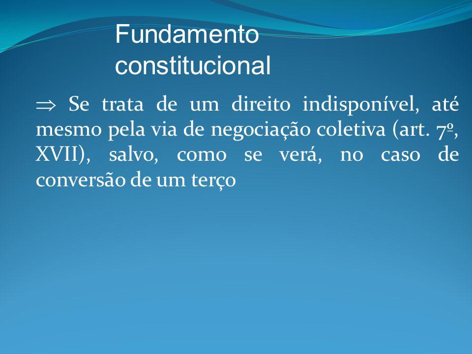  Se trata de um direito indisponível, até mesmo pela via de negociação coletiva (art.