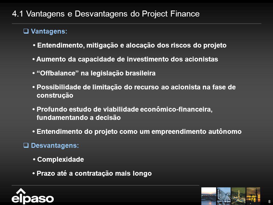 """8  Vantagens: Entendimento, mitigação e alocação dos riscos do projeto Aumento da capacidade de investimento dos acionistas """"Offbalance"""" na legislaçã"""