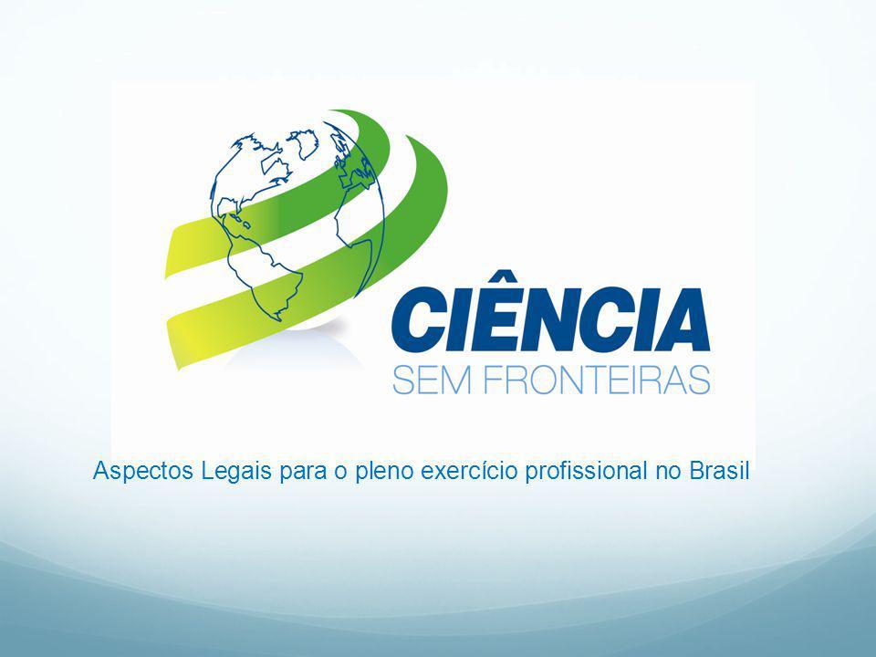 Aspectos Legais para o pleno exercício profissional no Brasil