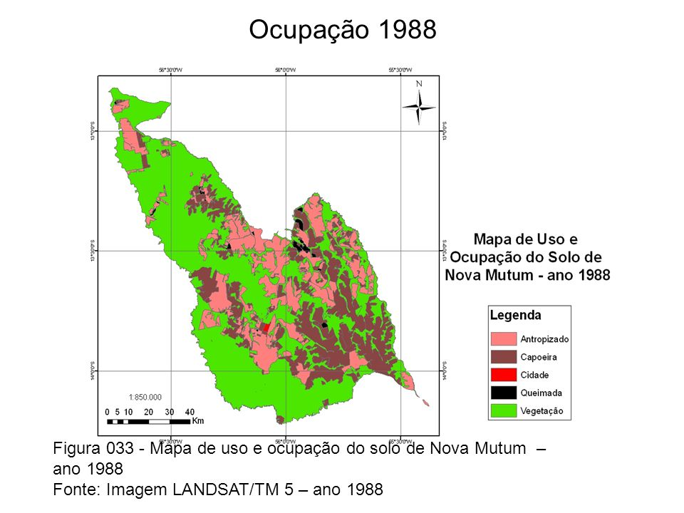 Figura 04 -Uso do solo em 1988 Fonte:Imagens Landsat,1988.