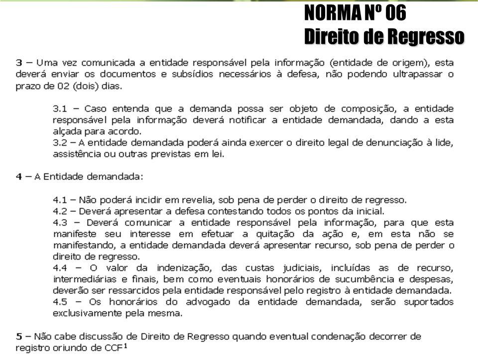 NORMA Nº 06 Direito de Regresso
