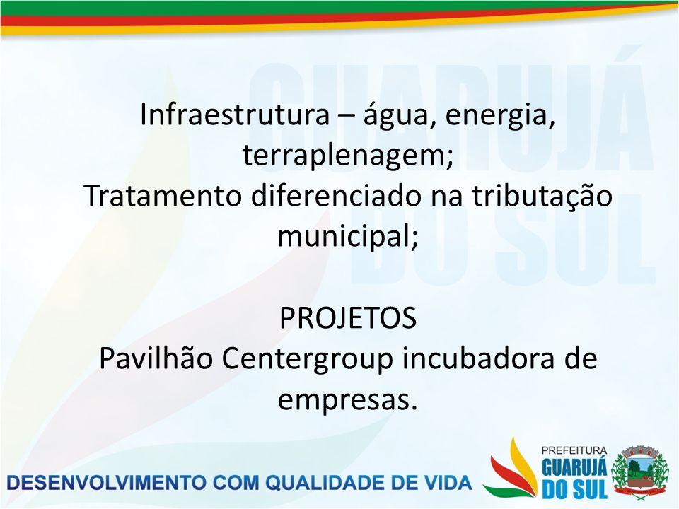 Armazém geral – Em parceria com o Estado de Santa Catarina, Município de Guarujá do Sul e empresários.