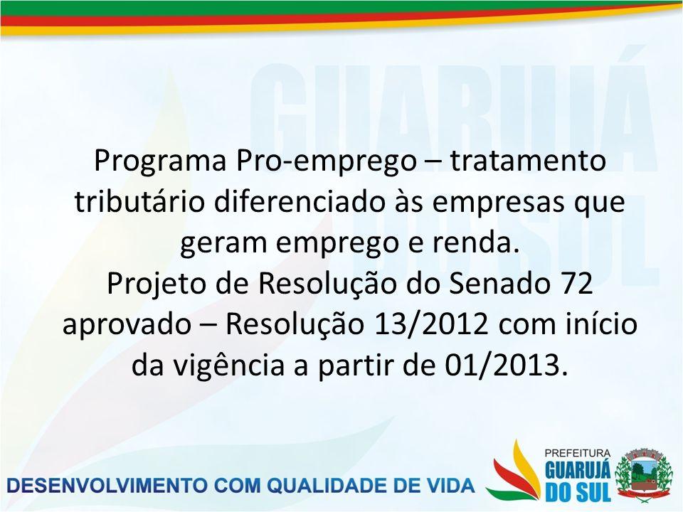 No municipio o prefeito Celso Taube também teve a preocupação de melhorar a renda e o emprego da população.