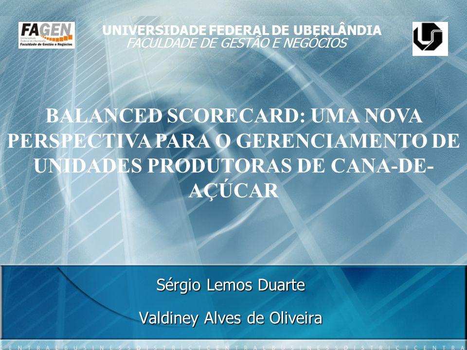 Sérgio Lemos Duarte Valdiney Alves de Oliveira BALANCED SCORECARD: UMA NOVA PERSPECTIVA PARA O GERENCIAMENTO DE UNIDADES PRODUTORAS DE CANA-DE- AÇÚCAR
