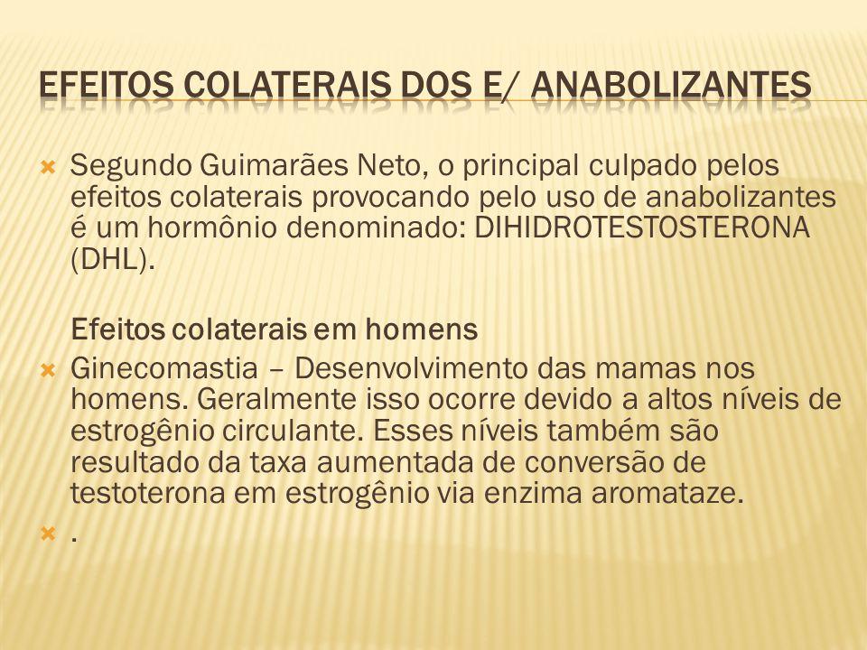  Segundo Guimarães Neto, o principal culpado pelos efeitos colaterais provocando pelo uso de anabolizantes é um hormônio denominado: DIHIDROTESTOSTER