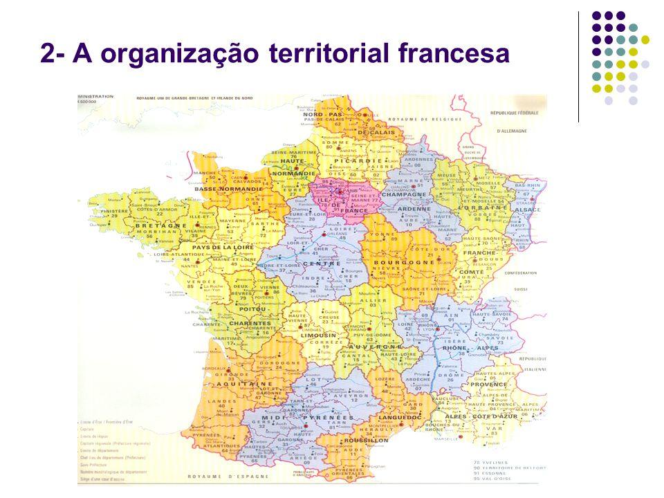 2- A organização territorial francesa