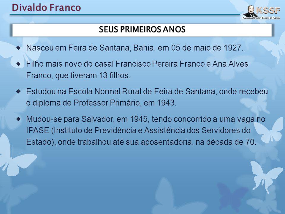  Nasceu em Feira de Santana, Bahia, em 05 de maio de 1927.  Filho mais novo do casal Francisco Pereira Franco e Ana Alves Franco, que tiveram 13 fil