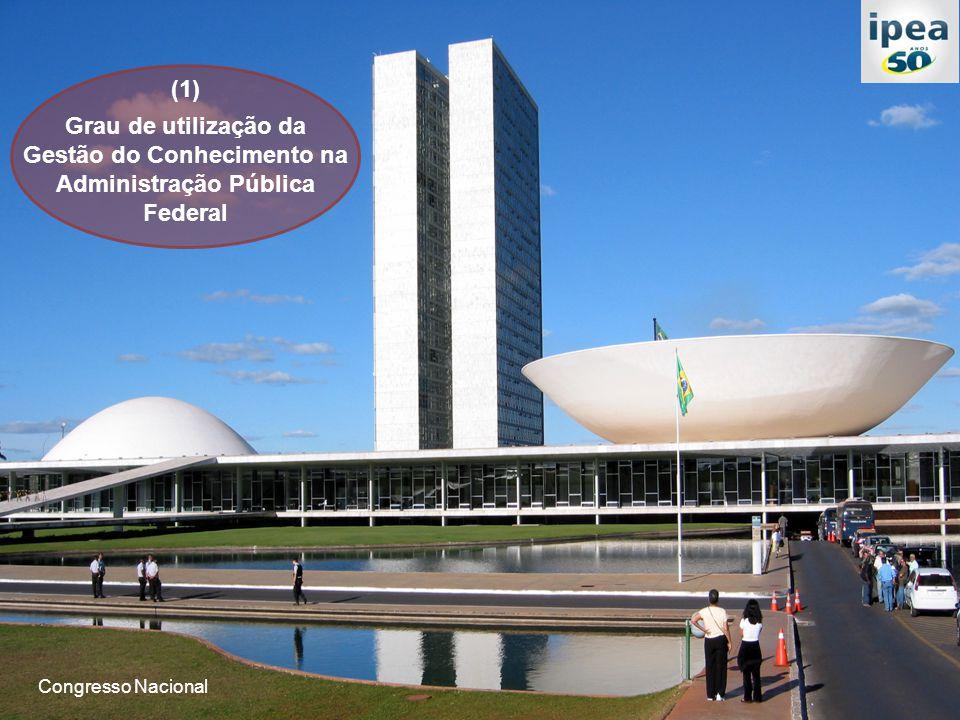 (1) Grau de utilização da Gestão do Conhecimento na Administração Pública Federal Congresso Nacional