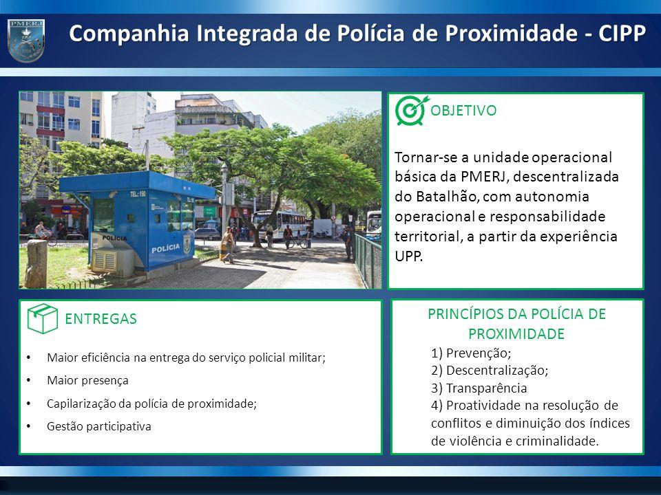 Unidade básica com autonomia operacional e responsabilidade territorial, descentralizada do Batalhão de Polícia de Proximidade.