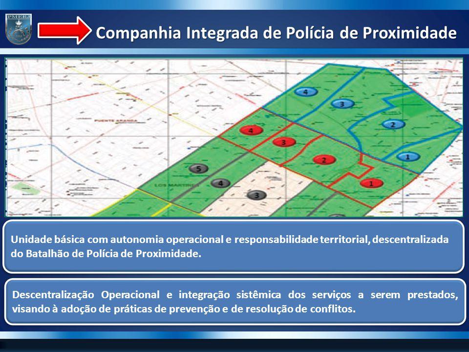 Unidade básica com autonomia operacional e responsabilidade territorial, descentralizada do Batalhão de Polícia de Proximidade. Descentralização Opera