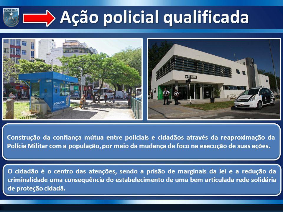 Ação policial qualificada Ação policial qualificada Construção da confiança mútua entre policiais e cidadãos através da reaproximação da Polícia Milit