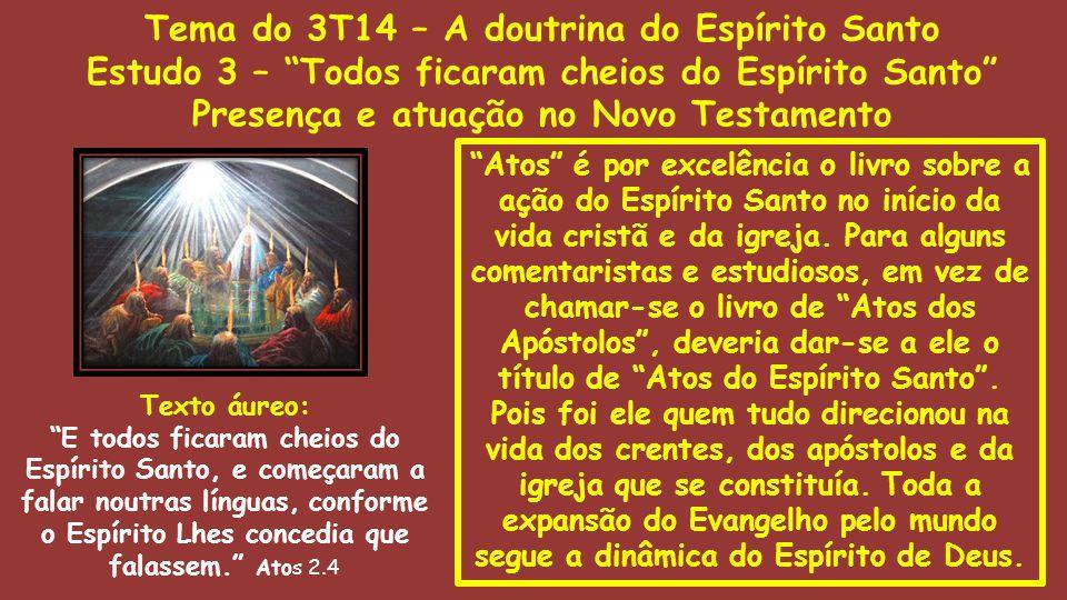 """""""Atos"""" é por excelência o livro sobre a ação do Espírito Santo no início da vida cristã e da igreja. Para alguns comentaristas e estudiosos, em vez de"""