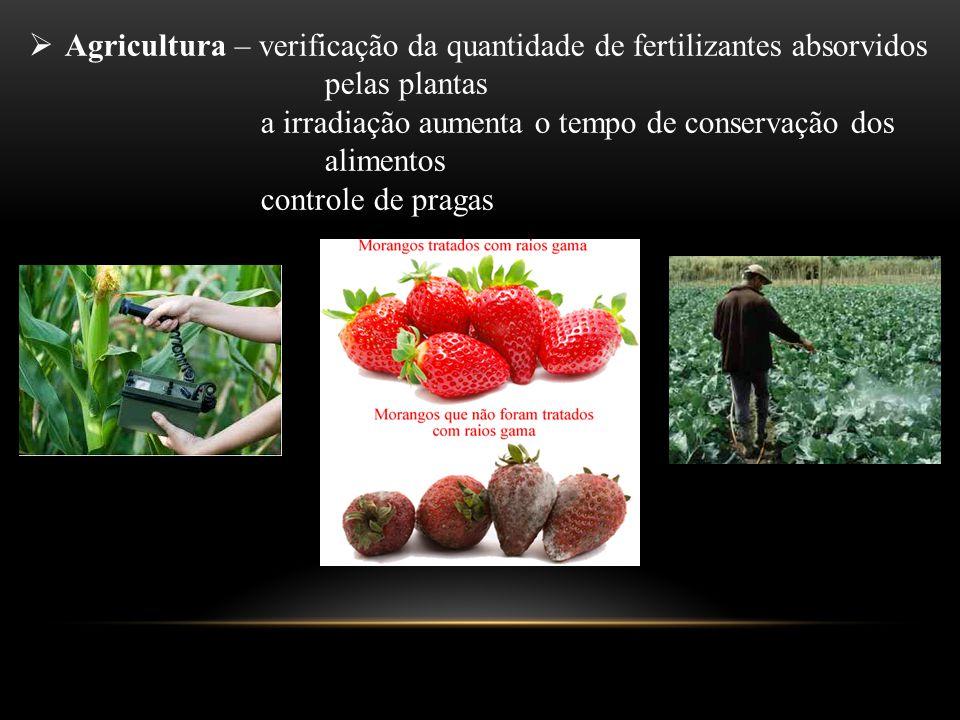  Agricultura – verificação da quantidade de fertilizantes absorvidos pelas plantas a irradiação aumenta o tempo de conservação dos alimentos controle