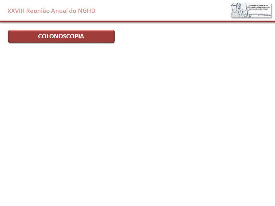 XXVIII Reunião Anual do NGHD COLONOSCOPIA