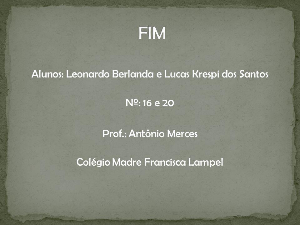 Alunos: Leonardo Berlanda e Lucas Krespi dos Santos Nº: 16 e 20 Prof.: Antônio Merces Colégio Madre Francisca Lampel