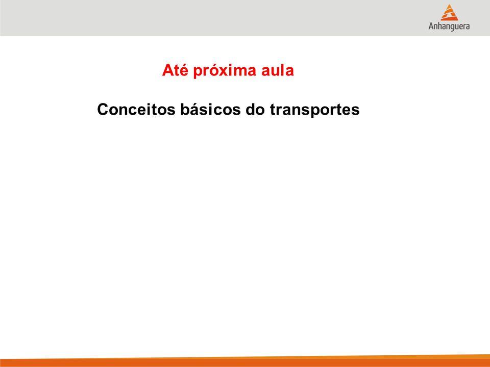 Até próxima aula Conceitos básicos do transportes
