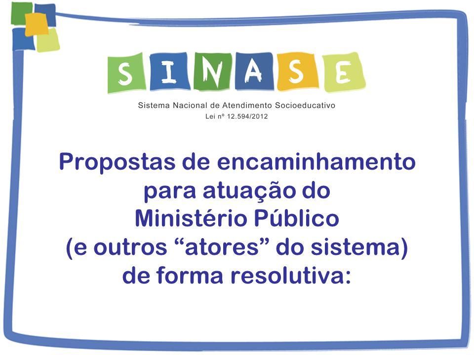 Propostas de encaminhamento para atuação do Ministério Público (e outros atores do sistema) de forma resolutiva: