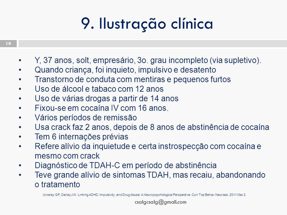 9. Ilustração clínica csalgcsalg@gmail.com 19 Y, 37 anos, solt, empresário, 3o.