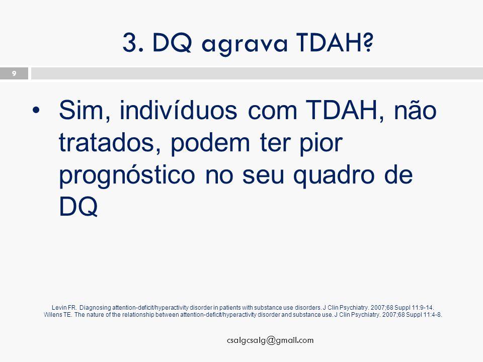 3. DQ agrava TDAH.