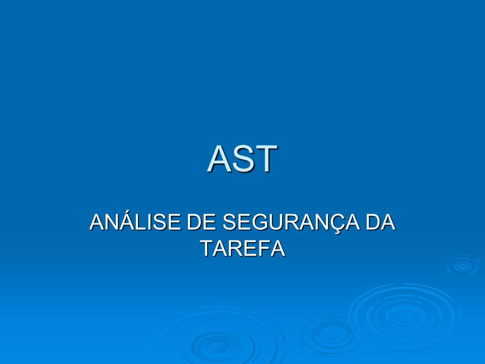 AST ANÁLISE DE SEGURANÇA DA TAREFA