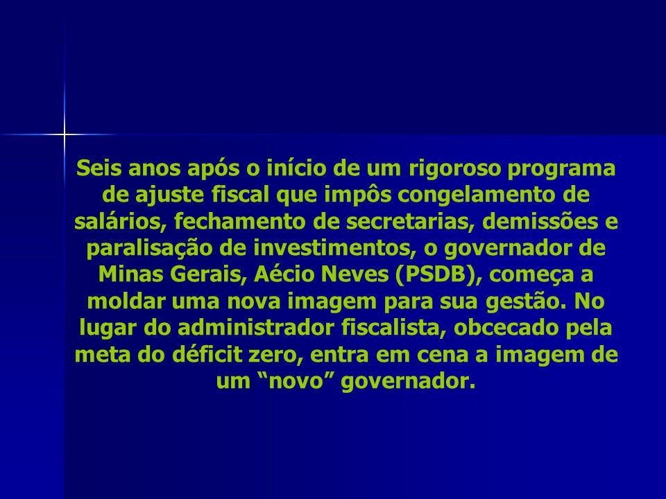 AUDÁCIA As obras da Cidade Administrativa de Minas, em ritmo acelerado. Na foto abaixo, de setembro de 2008, Niemeyer e Aécio durante uma visita ao lo