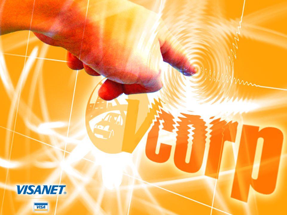 VCorp - Conceito Solução para conciliação automática* das transações financeiras e dados do bilhete, permitindo o acesso eletrônico das partes envolvidas: agência de viagens, cliente corporativo, banco e Visanet.