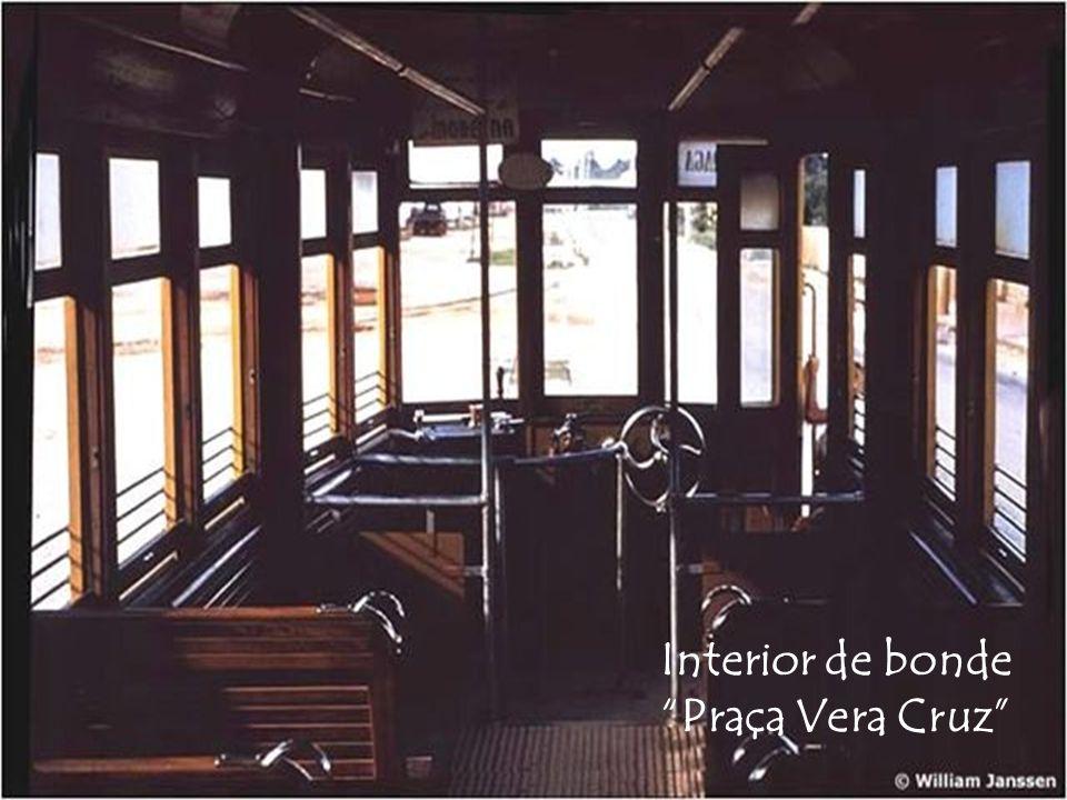 Interior de bonde Praça Vera Cruz