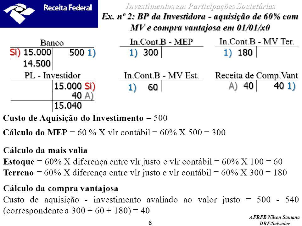 AFRFB Nilson Santana DRF/Salvador PL - Investidor In.Cont.B - MV Ter.