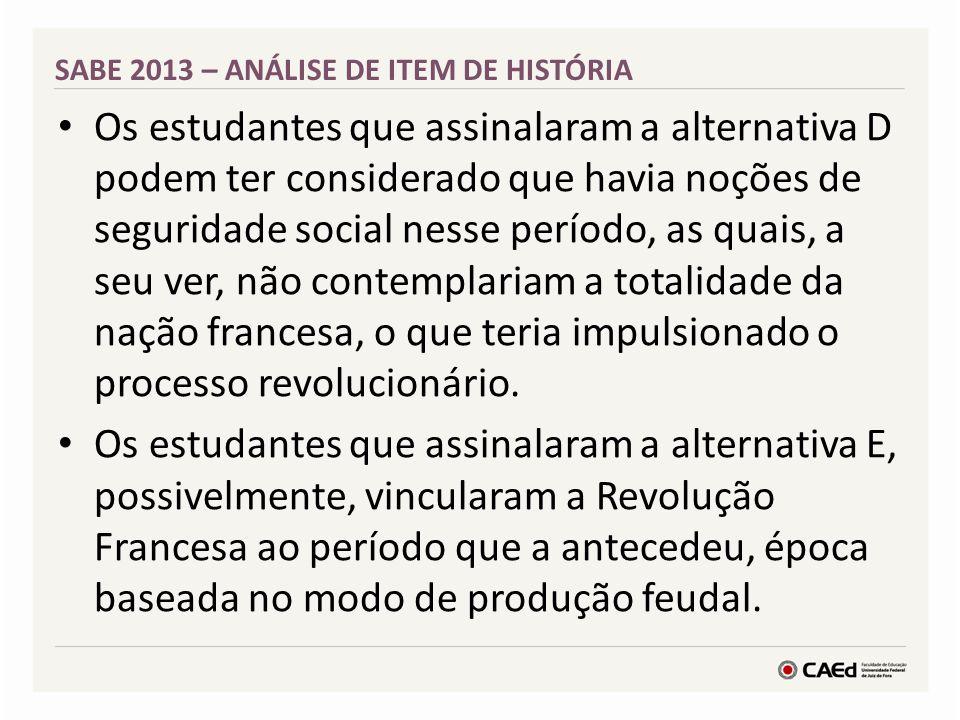 Atividades e Itens – Sociologia 1 EM SABE 2013
