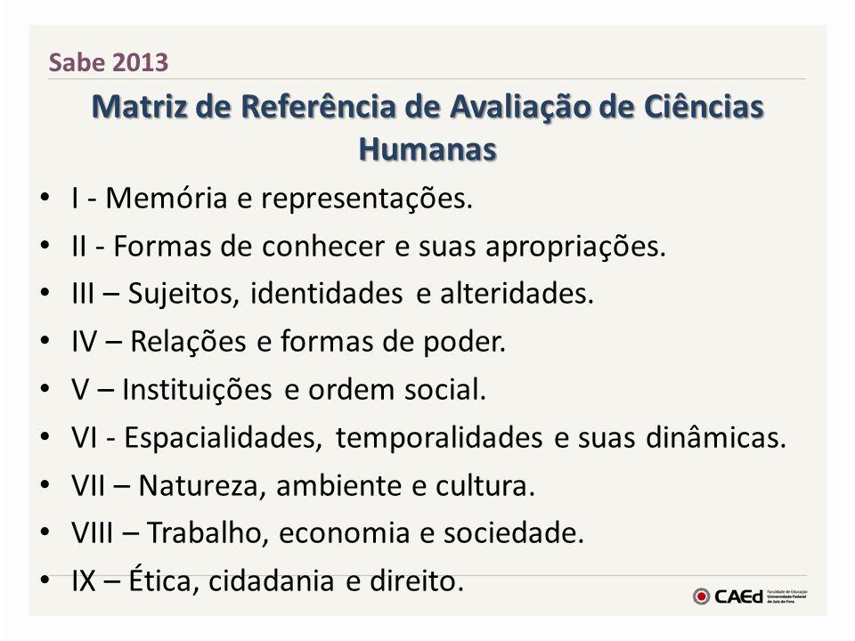 Referenciais Curriculares e Matriz de Referência Sabe 2013